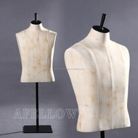 vintage fiber glass fabric wife dress mannequin