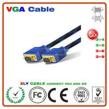 High Quality HD15 VGA Cable Male to Male Gold Plate VGA Cable with Ferrite