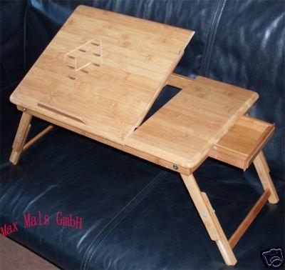 bambuslaptoptabelle bambusm belbambusklapptisch laptop tisch bett tisch klapptisch bambus. Black Bedroom Furniture Sets. Home Design Ideas