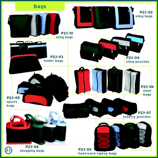 Corporate Gifts Singapore - Customised Shoe Bag, Toiletry Pouch, Sports Bag, Sling Bag, Folder Bag, Laptop Haversack, Pouch