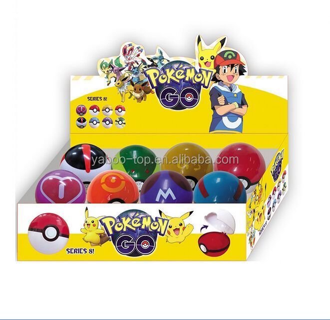 2016 Wholesale Pokemon Go 7cm Pokeball with 2-3cm Mini Anime Pikachu Super Master Action Figures Toys in Display Box