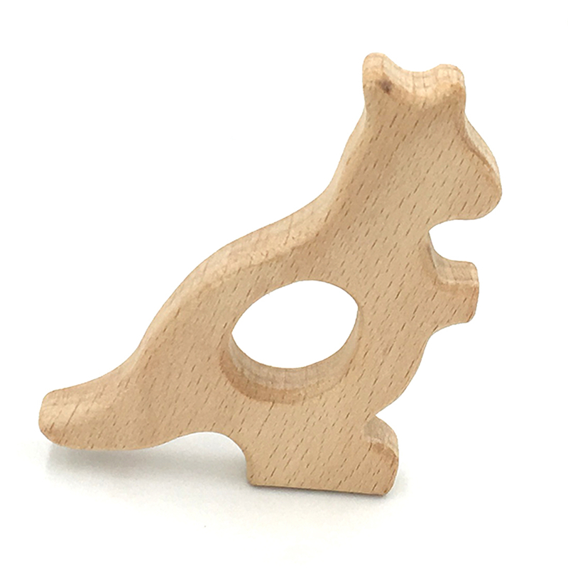 Wooden Teether Toy Baby Safe Nurse Breastfeeding Chew Training Toddler Unwaxed Beech Wooden eco-friendly Organic Baby Teether