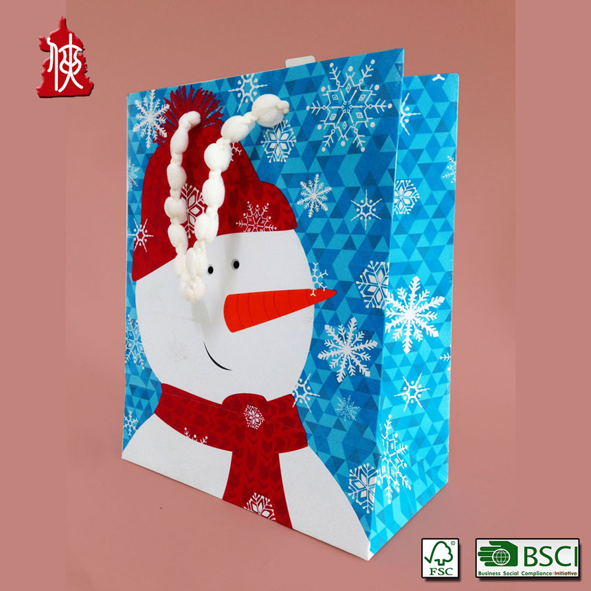 Manufacturers Wholsale Recycle Craft Paper Kraft Bag/Christmas gift bag