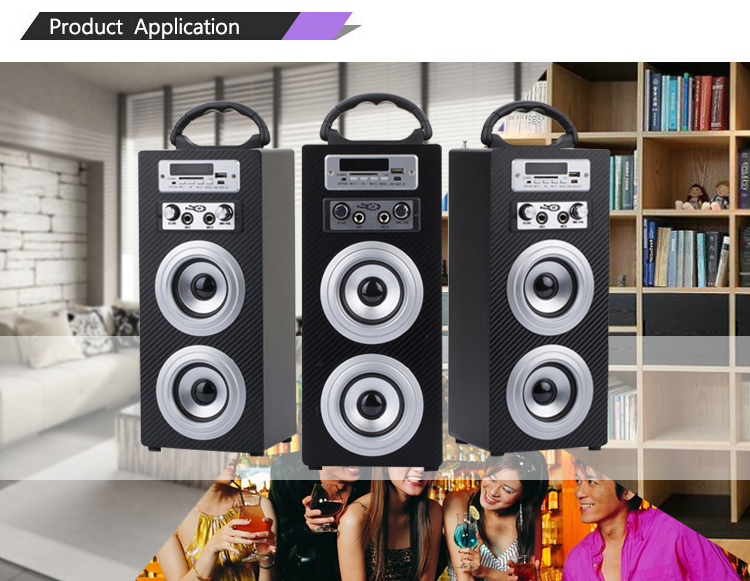 Digital stereo audio power amplifier speaker system with usb sd card read