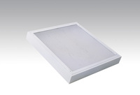 LJMZ1011 plastic cover louver troffer track led linear fluorescent lighting fixture