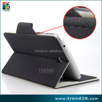 china supplier four folding leather case for samsung tab 3