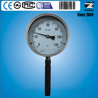 "Dial 6"" BI-mental temperature gauges 120 degree stainless steel thermometer"