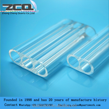 High Quality 2 holes Quartz Laser Flow Tube Quartz Cavity
