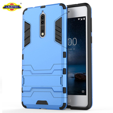 Full Body Shock Resistant Armour Case For Nokia 8 Plastic Mobile Phone Cover