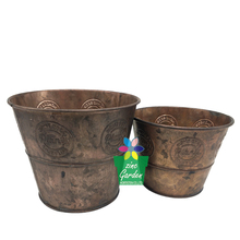 Wholesale small succulent antique brass metal plant flower planter pots for table