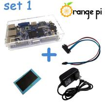 Orange PI Set 1 : Transparent Case + Sata Cable + Heat Sink + Power Supply. not for banana pi pro and raspberry pi 2