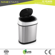Sale electronic sensor stainless steel trash can commercial
