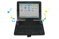 Bluetooth Keyboard flip macbook hard cover laptop Case with Stereo Speaker for ipad 2 tablet