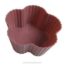 wholesale silicone brownie moulds flower shape silicone teacup cupcake mold manufacturer