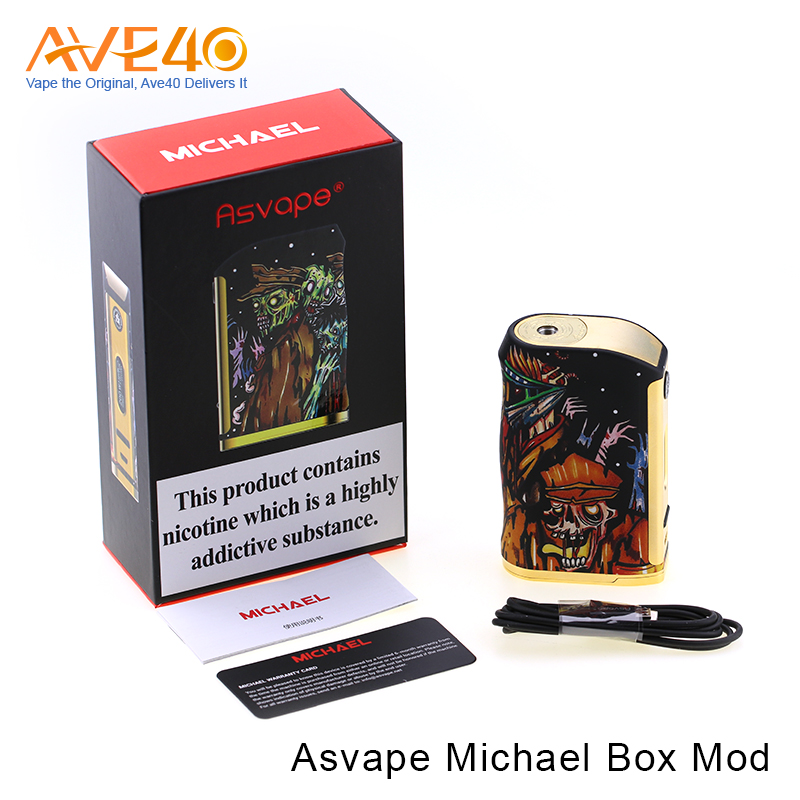 2017 Trending Products Asvape Stabwood Box Mod Michael Mod walking death