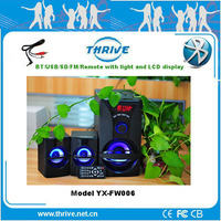 bluetooth speaker with led display super bass portable speaker 2.1 channel bluetooth speaker with lcd display