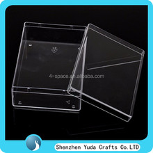 clear transparent plastic storage box plastic business card collection box