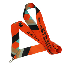 Single custom heat-transfer printed medal lanyard for sale