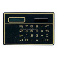 Mini slim card solar power pocket calculator, giveaway calculator/ HLD-807