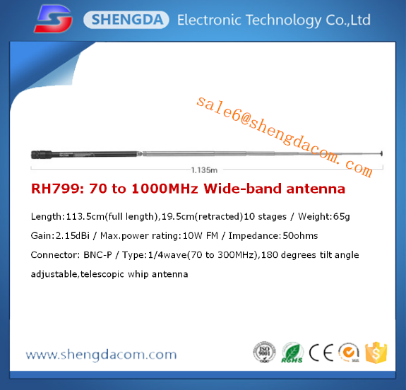 Diamond RH-799 antenna / wide band handheld antenna with 70-1000MHz and trade assurance