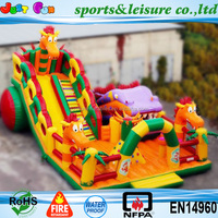 Russia design dragon outdoor inflatable trampoline park factory direct sale