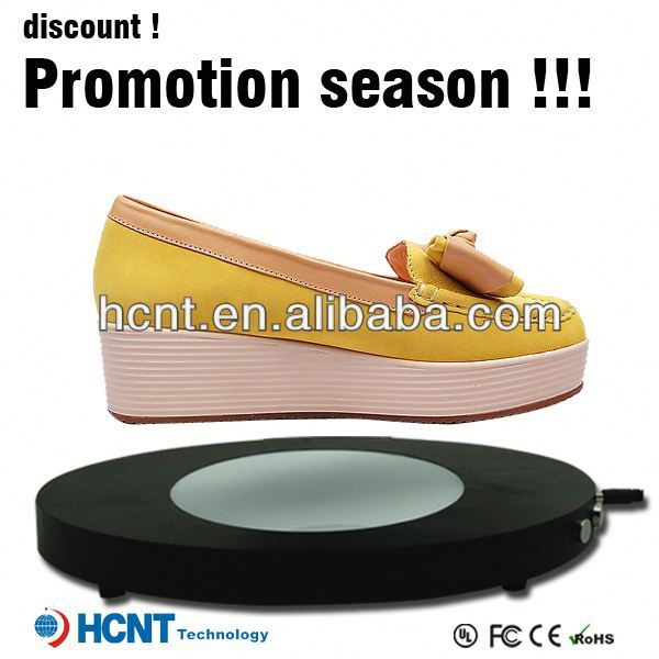 New design ! Magnetic Floating display stand for sandal ,men sandals 2013