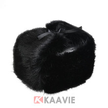 Folding Raccoon fur earflap leather winter hat ski cap