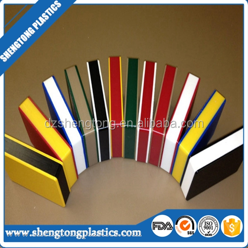 Twin color double layered PE plastic sheet for advertising