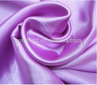 150cm 50*75 67gsm Anti-Static, Shrink-Resistant Soft and comfortable 00% polyester satin fabric / polyester satin fabric for pac
