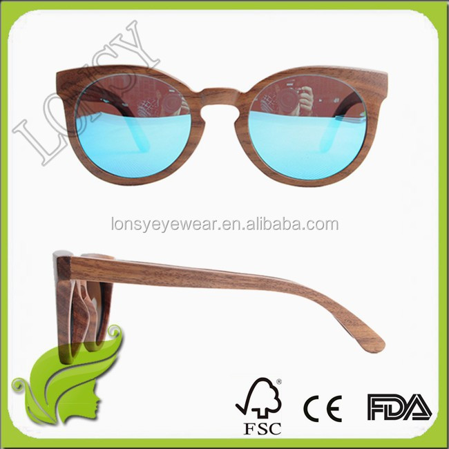 2016 Handmade Recyclable bamboo wood sunglasses eco-friendly polarizrd wooden sunglasses