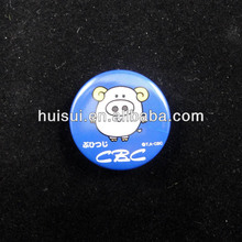 2014 High quality promotional metal glow in the dark badge