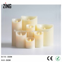 luminara candle decorating Real Wax Flameless LED Candle online shopping(WM-101)