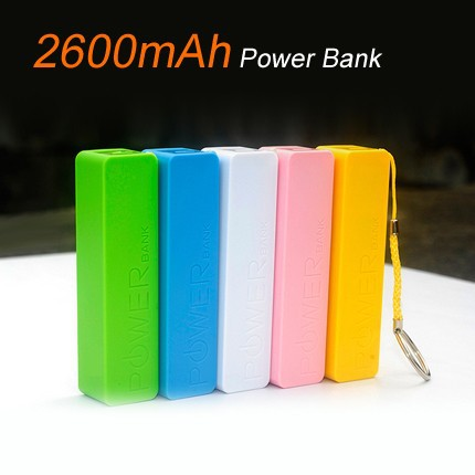 Mini portable powerbank 2600mah mobile power bank for smartphone