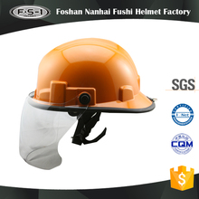 Good quality ABS material CE certification fire men helmets safety firefighter helmet with visor