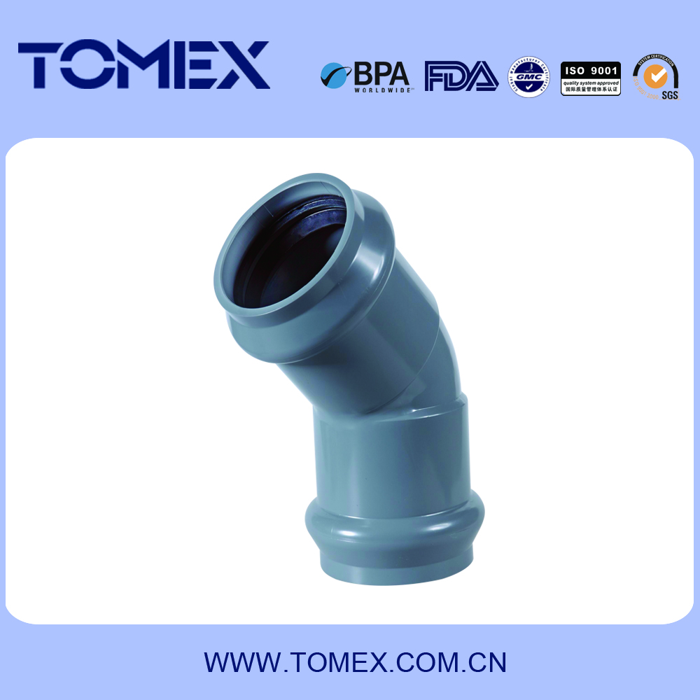 Wholesale made-in-China 315 mm 45 degree pvc elbow rubber fitting manufacturer