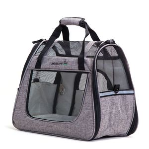 Factory Wholesale Oxford Travel Pet Dog Cat Carrier Airline Approved for Small Cat