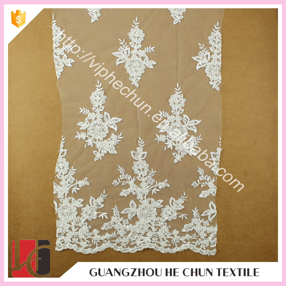 WHF-250 51''Polyester Embroidery Designs Sarees Lace ,Handmade Eyelash Lace Fabric for Women Clothing