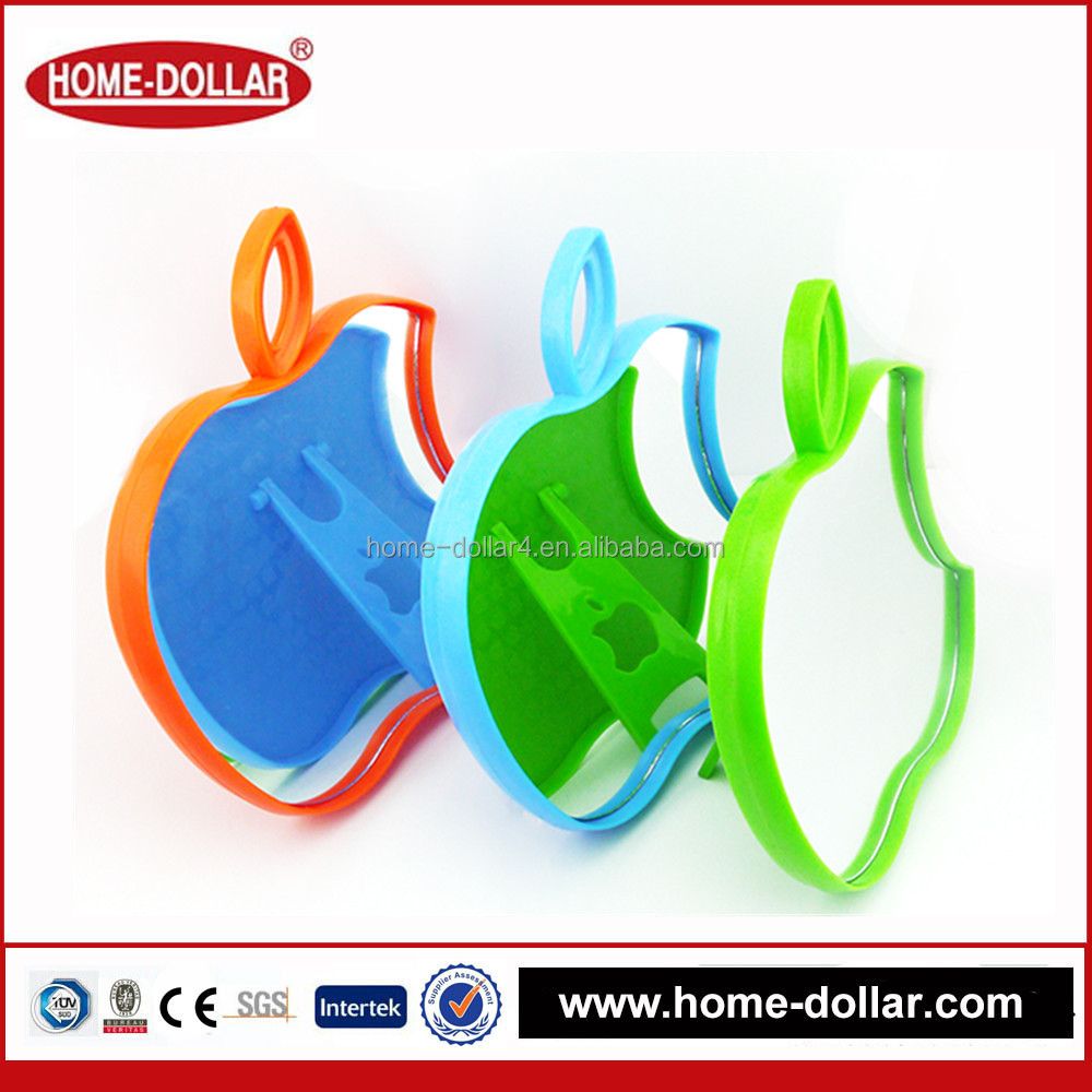 colorful apple shaped laser cut single pocket promotional small size mirror with competitive price