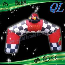 2012 {QiLing}amusing clown inflatable arch door advertising