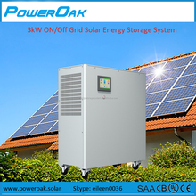 Complete Solar Power Systems 3000w hybrid solar generator for homes