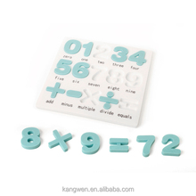 Funny baby toys with Number puzzles food contact grade silicone +PP cover
