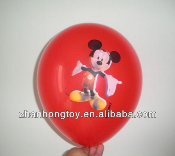 "2014 12"" inches printed custom cartoon character logo inflatable helium balloons"