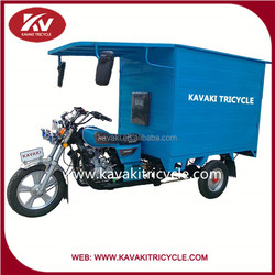 KAVAKI brand cheap motorcycle with big blue carriage box for cargo transportation