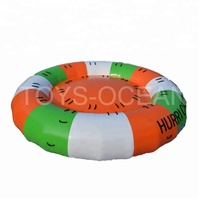 Inflatable Rotating Water Toy Disco Boat Towable Tube For Water Entertainment