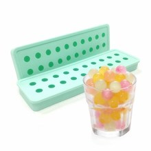 20 cavity mini balls shape candy chocolate jelly maker ice cube tray silicone mold for ice cream pops