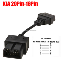 Hot sales 20Pin male to 16Pin OBD2 female cable Adapter Connector