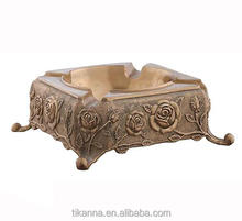 Wholesale moroccan cheap indoor square antique brass ashtray