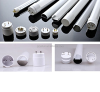 T8 LED tube light aluminium profile with frosted cover+T8 LED fluorescent tube housing + T5 lighting lamps