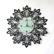Elegant Decorative Peacock tail Wall Clocks for Living Room/ Bedroom