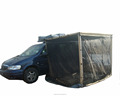 2.5m x 2.5m Awning Roof Top Tent Camper Trailer 4WD Awning 4X4 Camping Car Rack Pull Put With Mesh Room